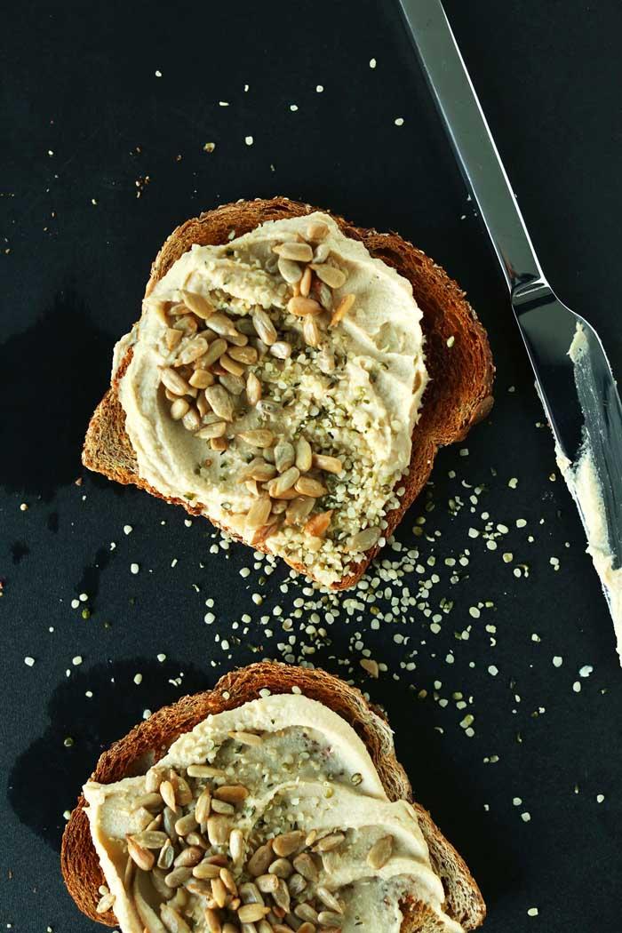 Easy Hummus Toast