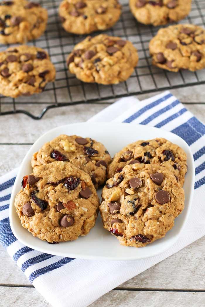 Gluten-Free Vegan Trail Mix Cookies