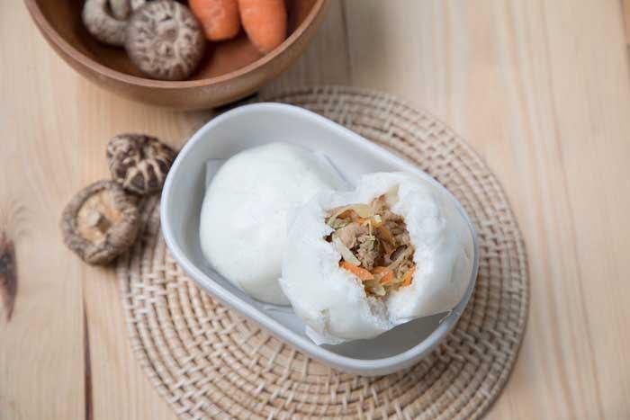 vegan mushroom steamed bun