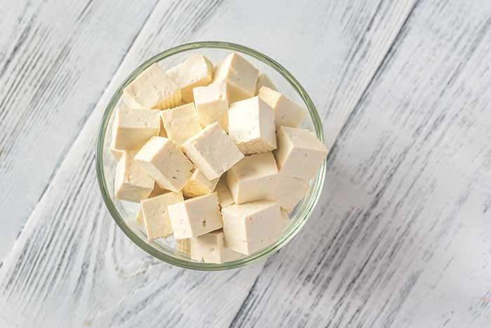 Cut tofu glass bowl 2