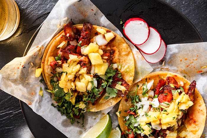 Ground Turkey Pineapple Salsa Tacos