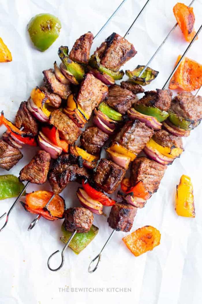 Steak Fajita Kebabs