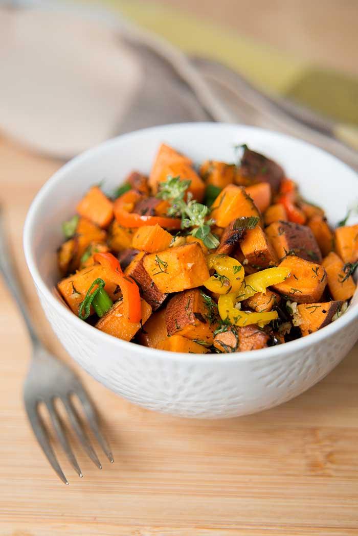 Sweet Potato Hash with Fresh Herbs