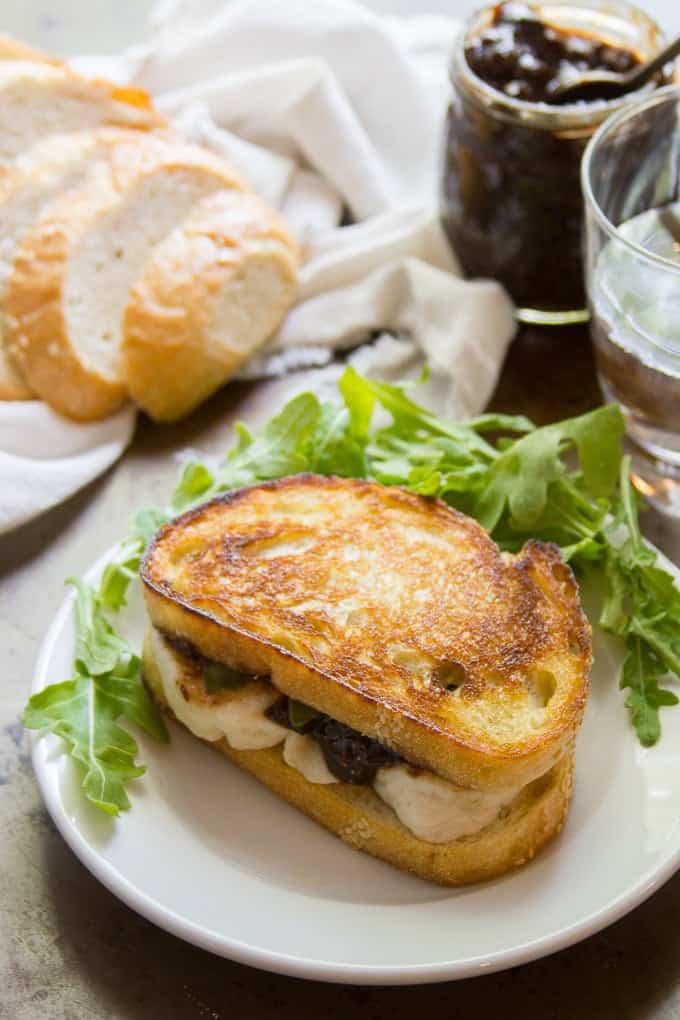 Vegan Mozzarella & Fig Jam Grilled Cheese
