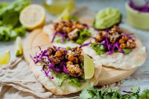 Vegan Tandoori Cauliflower Chickpea Taco Recipe