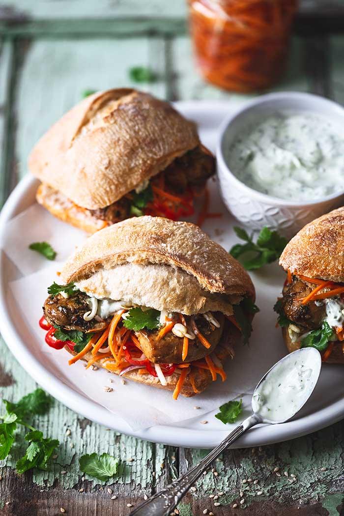 Vietnamese Banh Mi Sandwich Pork