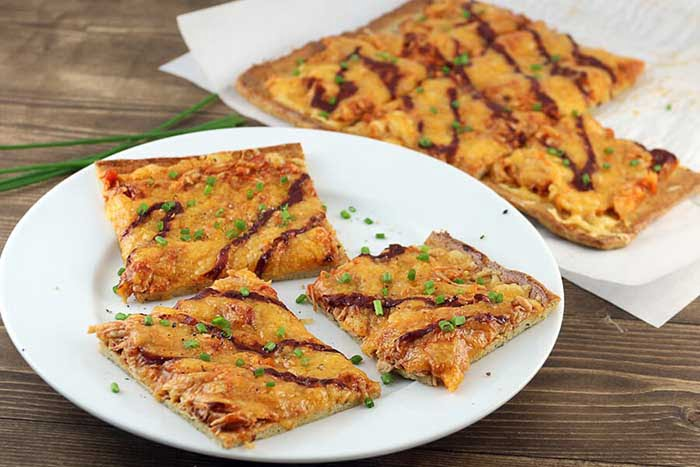 Dairy-Free BBQ Chicken Low-Carb Pizza