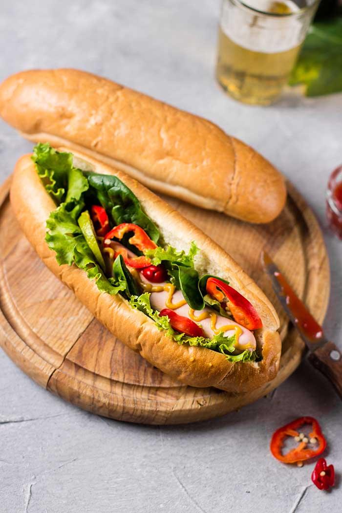 chili cashew dog