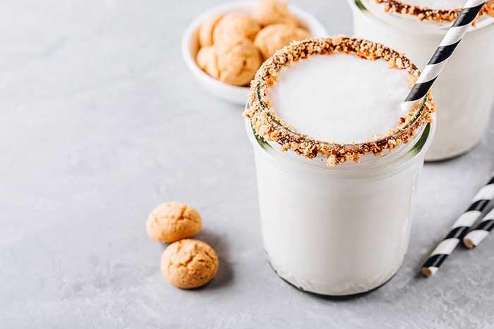 cookie butter vanilla milkshake