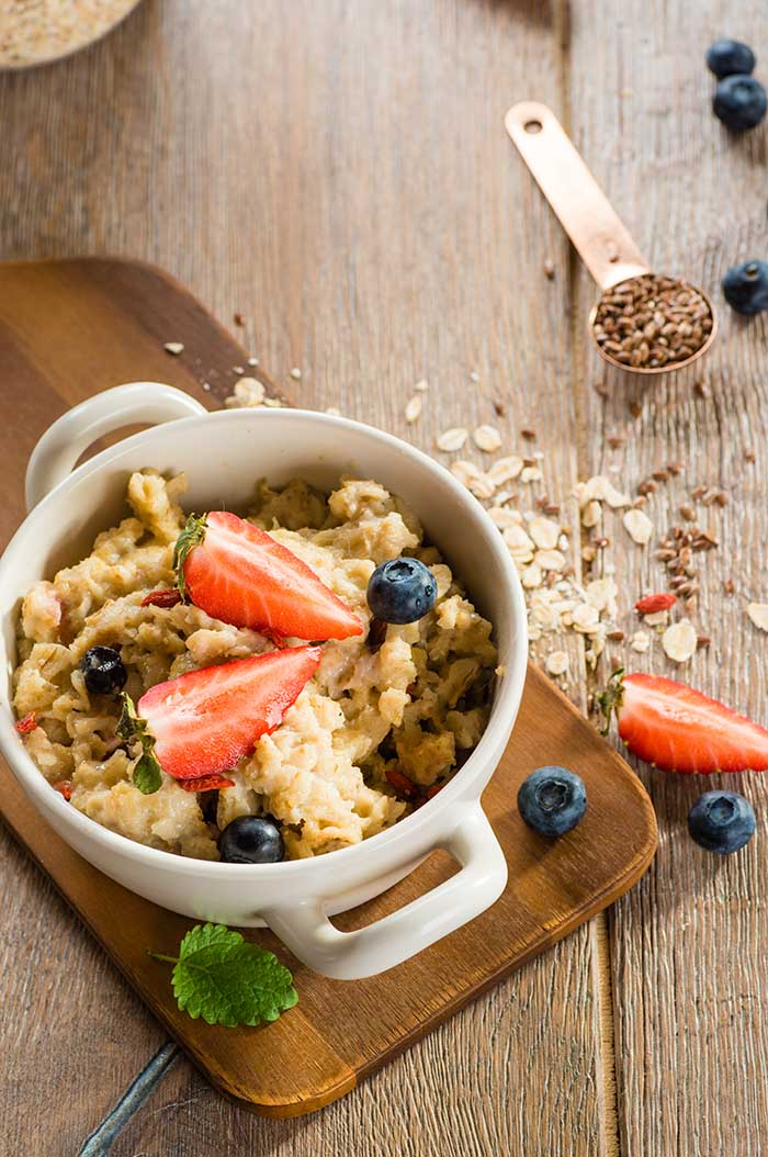 flaxseed blueberry oatmeal