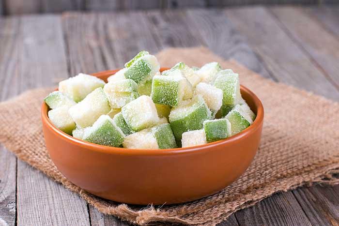 frozen zucchini