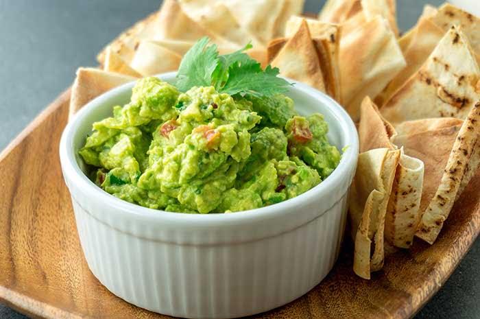 Fresh guacamole bowl