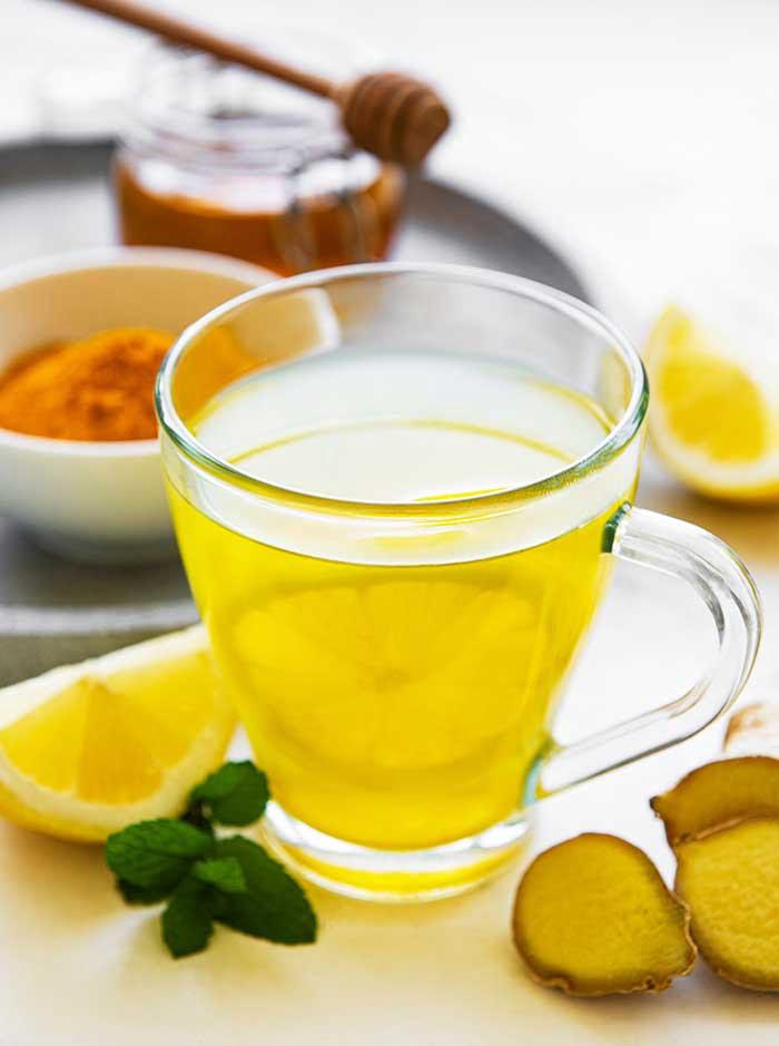 lemon ginger turmeric tea energy tonic