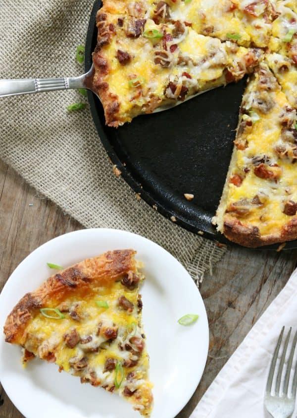 Meat Lovers' Keto Breakfast Pizza