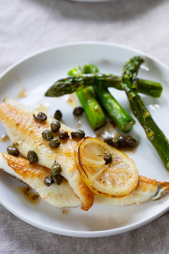 oven baked triggerfish capers lemon asparagus 2