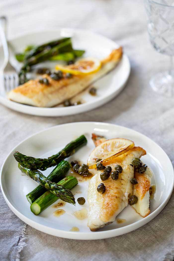 oven baked triggerfish capers lemon asparagus 5