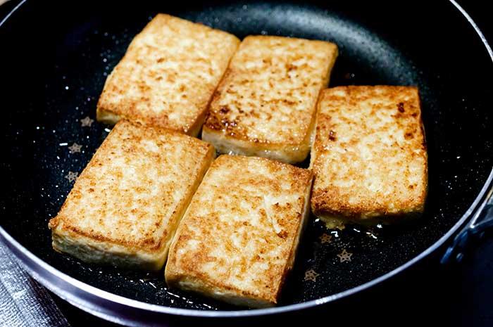 pan fried japanese atsuage tofu