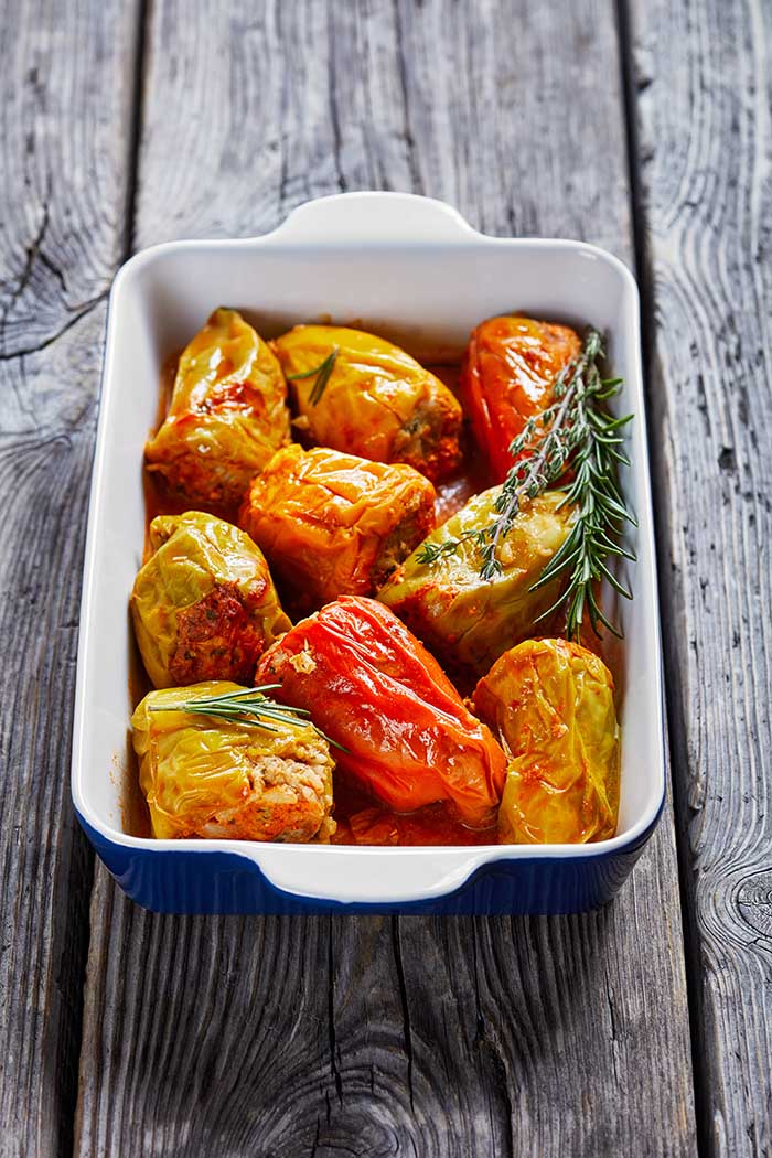 peppers stuffed with rice and minced meat