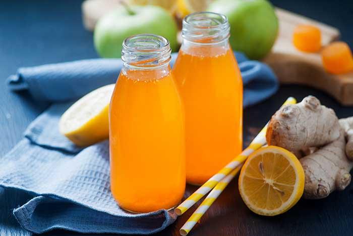 turmeric ginger lemon morning health shot