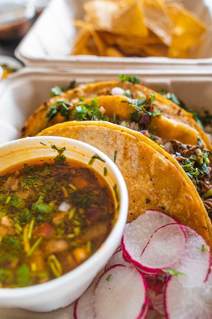 vegan jackfruit birria tacos