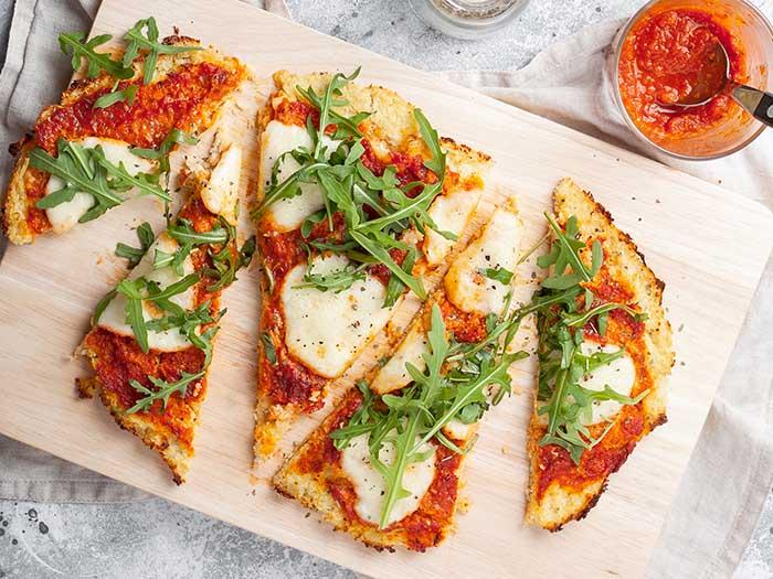 vegan plant based cauliflower pizza crust